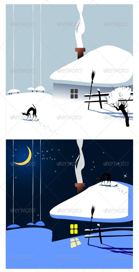Winter Village - Seasons Nature
