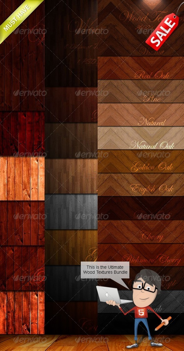 Wood Textures Bundle - Wood Textures