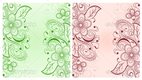 Flower Background - Backgrounds Decorative