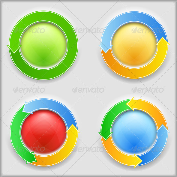 Circular Arrows - Web Elements Vectors