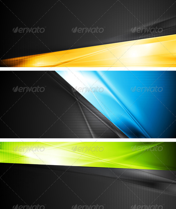 Vibrant Vector Banners - Backgrounds Decorative