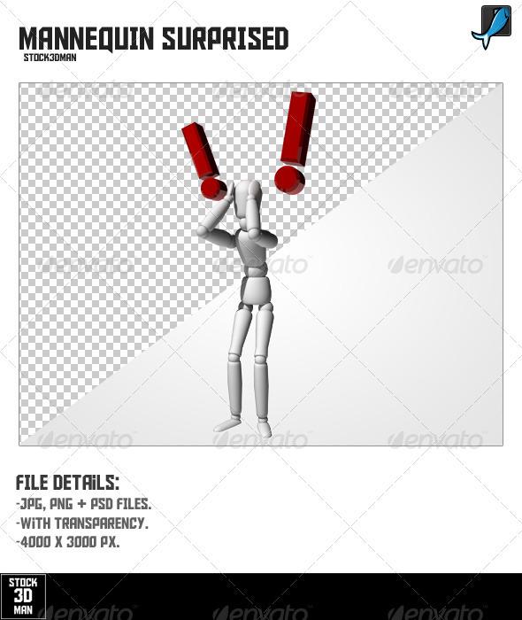 Mannequin Surprised - Characters 3D Renders