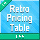 Retro CSS3 Pricing Tables - CodeCanyon Item for Sale