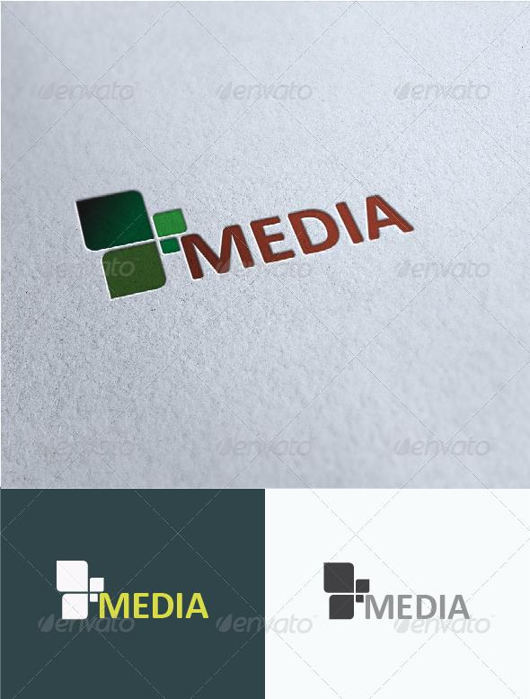 Media Logo Template - Vector Abstract