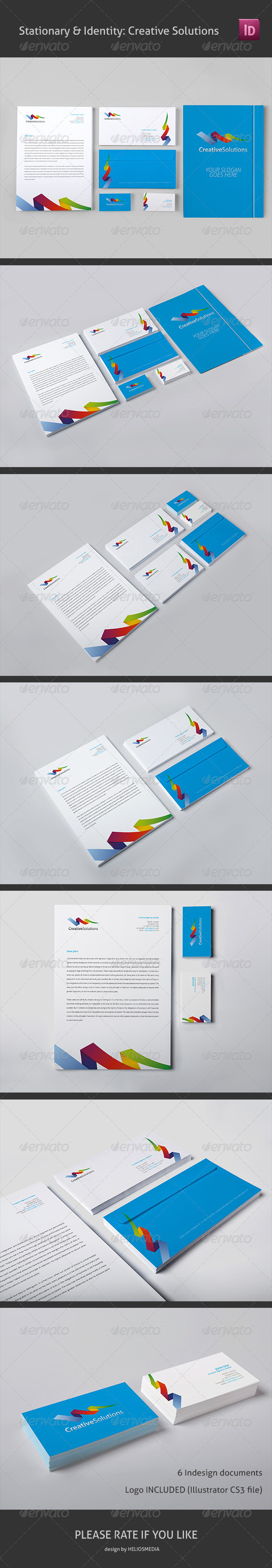 Stationery & Identity: Creative Solutions - Stationery Print Templates