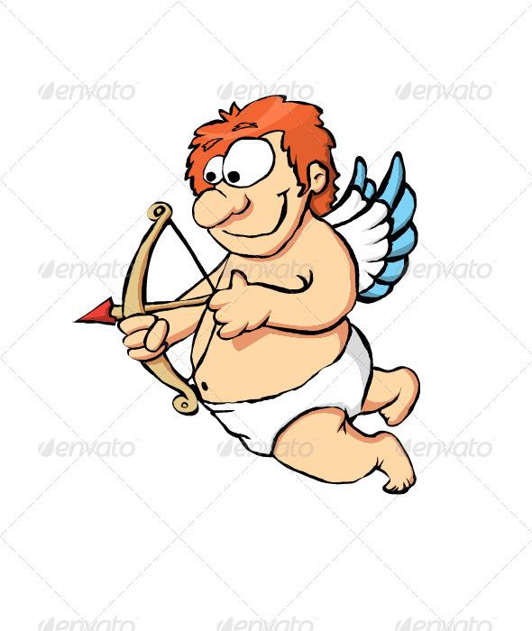 Cupido Vector Illustration - Valentines Seasons/Holidays