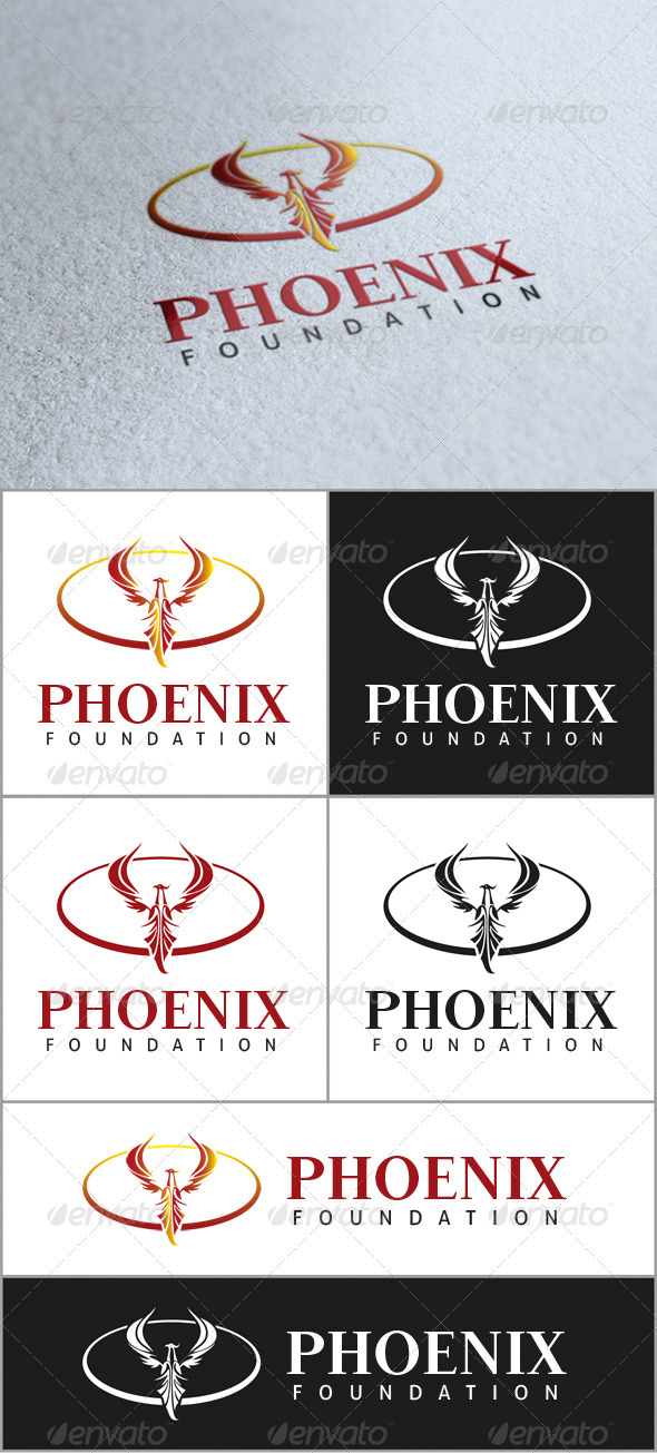 Phoenix Foundation Logo - Symbols Logo Templates