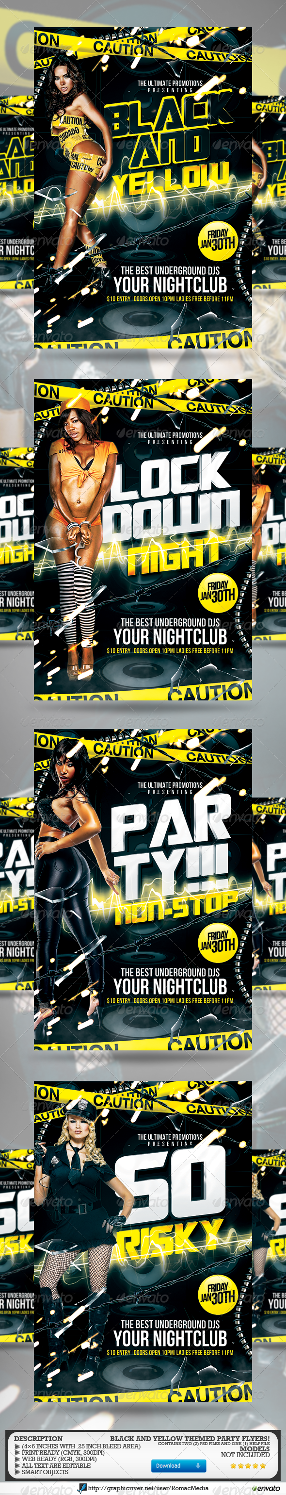 Black and Yellow Multi-Title Party - Clubs & Parties Events