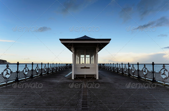 Swanage Pier - Stock Photo - Images