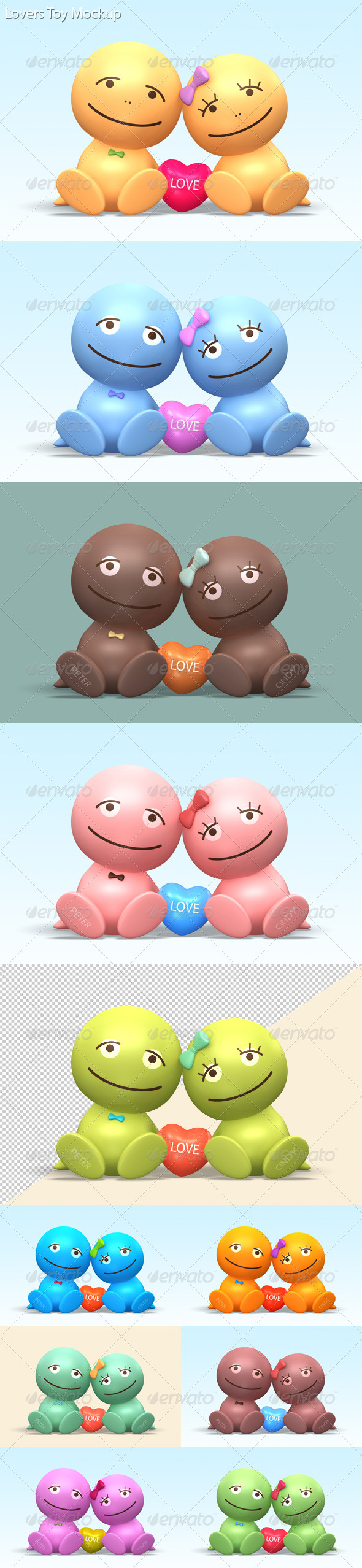 Lovers Toy Mock-up - Objects 3D Renders