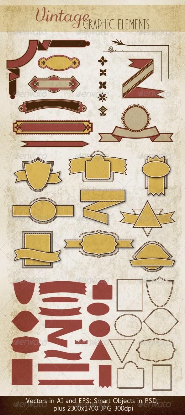 Badges, Ribbons & Decorative Elements - Decorative Symbols Decorative