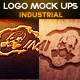 Industrial Photorealistic Logo Mock-Up - GraphicRiver Item for Sale