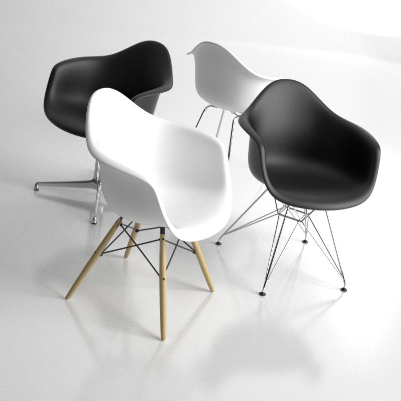 eames plastic armchair 4in1 dal dax daw dar by konradrakowski. Black Bedroom Furniture Sets. Home Design Ideas