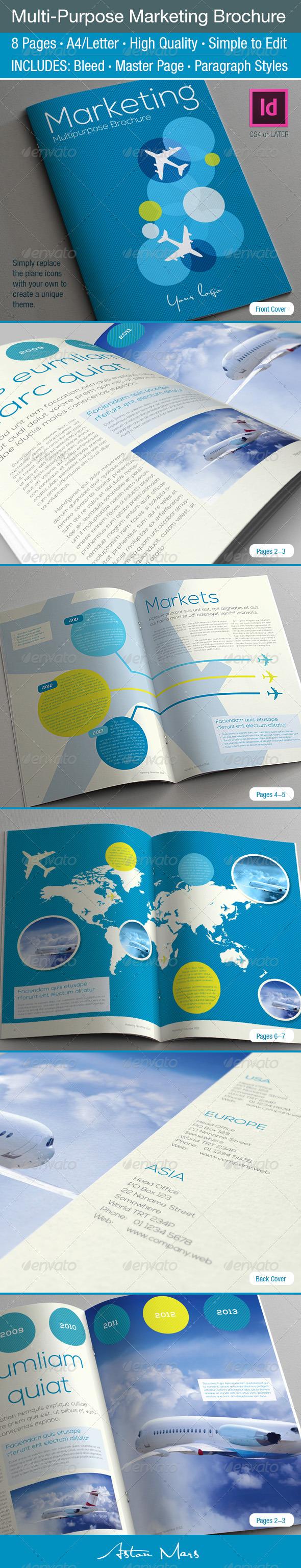 Multi-Purpose Marketing Brochure - Informational Brochures