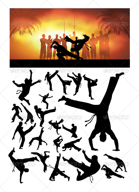 Capoiera Silhouettes - Sports/Activity Conceptual