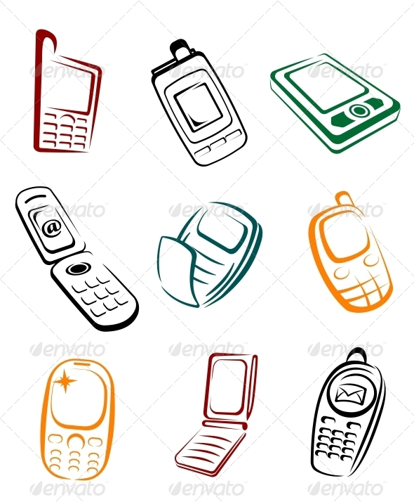 Mobile Phones - Man-made Objects Objects