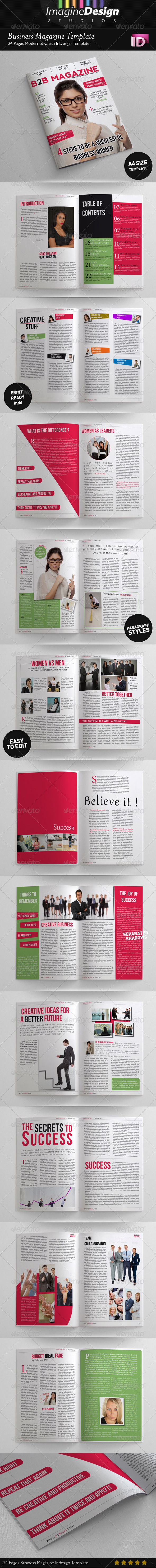 24 Pages Business Magazine Template - Magazines Print Templates