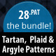 The Bundle : 28 Tartan, Plaid & Arglye Patterns - GraphicRiver Item for Sale