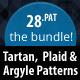 The Bundle : 28 Tartan, Plaid & Arglye Patterns - GraphicRiver Item for Sale