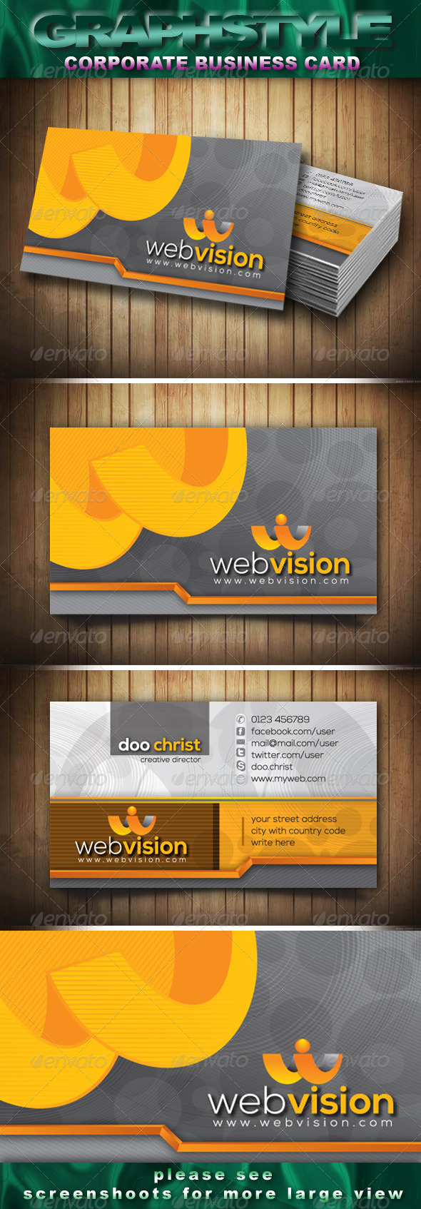 Webvision Corporate Business Card - Creative Business Cards
