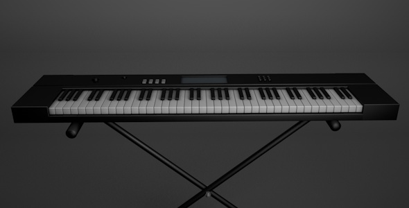 Realistic Electric Piano - 3DOcean Item for Sale