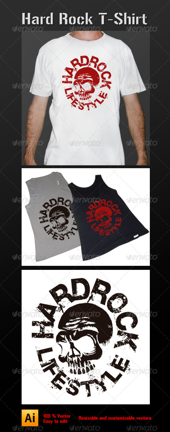 Hard Rock Lifestyle T-Shirt - Grunge Designs