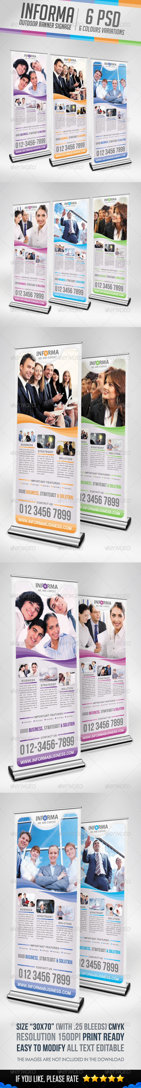 Informa - Outdoor Banner Signage - Signage Print Templates