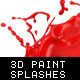 3D Paint Splashes with Transparent Background - GraphicRiver Item for Sale