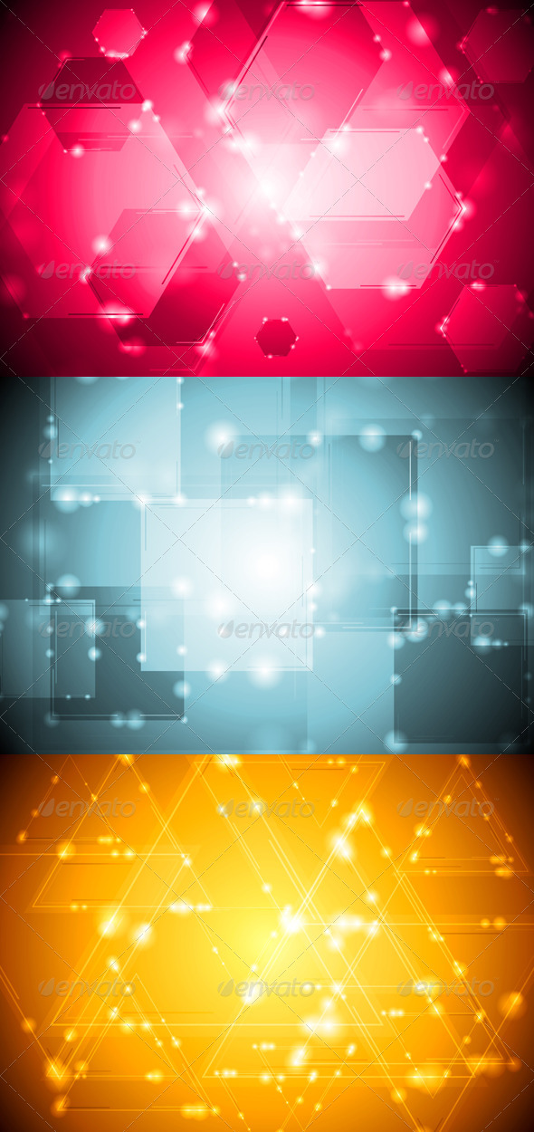 Bright technology design - Backgrounds Decorative