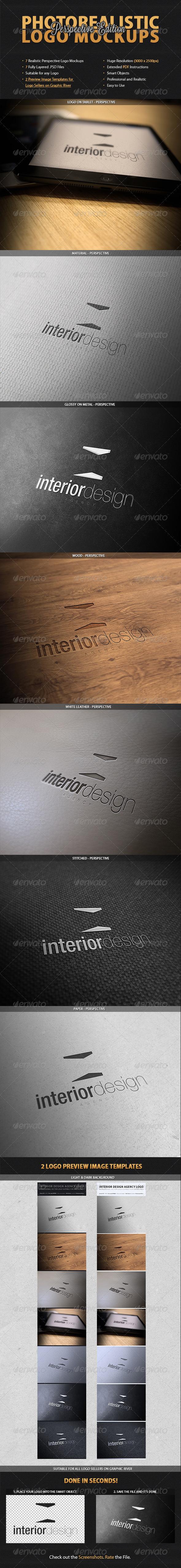 7 Photorealistic Logo Mockups - Perspective - Logo Product Mock-Ups