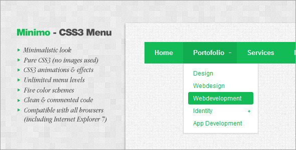 Minimo - CSS3 Menu - CodeCanyon Item for Sale