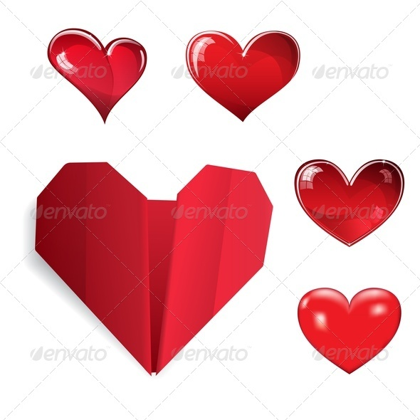 Set of Hearts - Valentines Seasons/Holidays