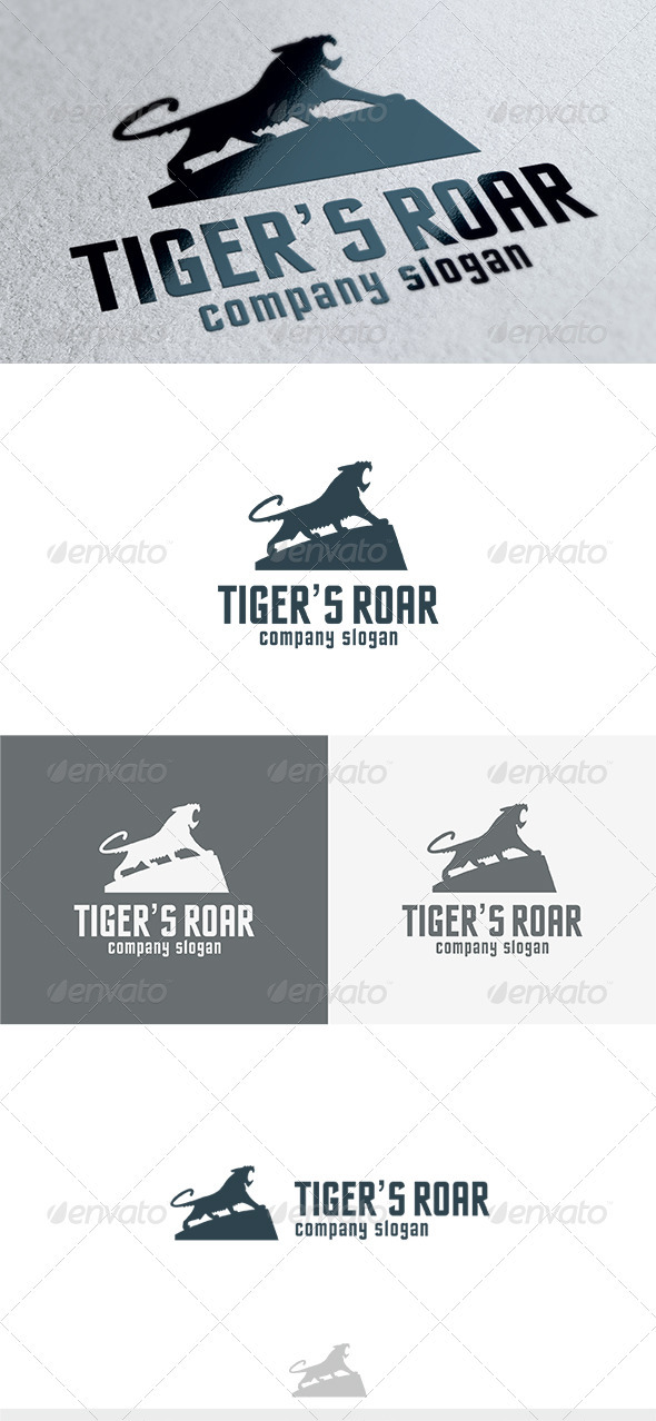Tigers Roar Logo - Animals Logo Templates