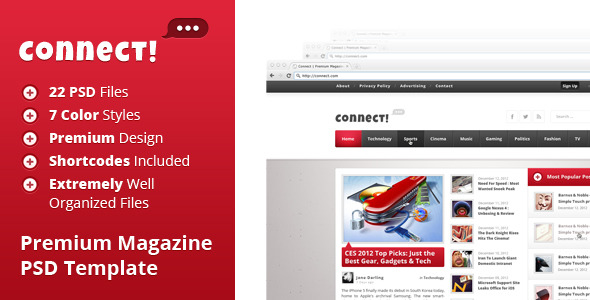 Connect - Premium PSD Magazine Template