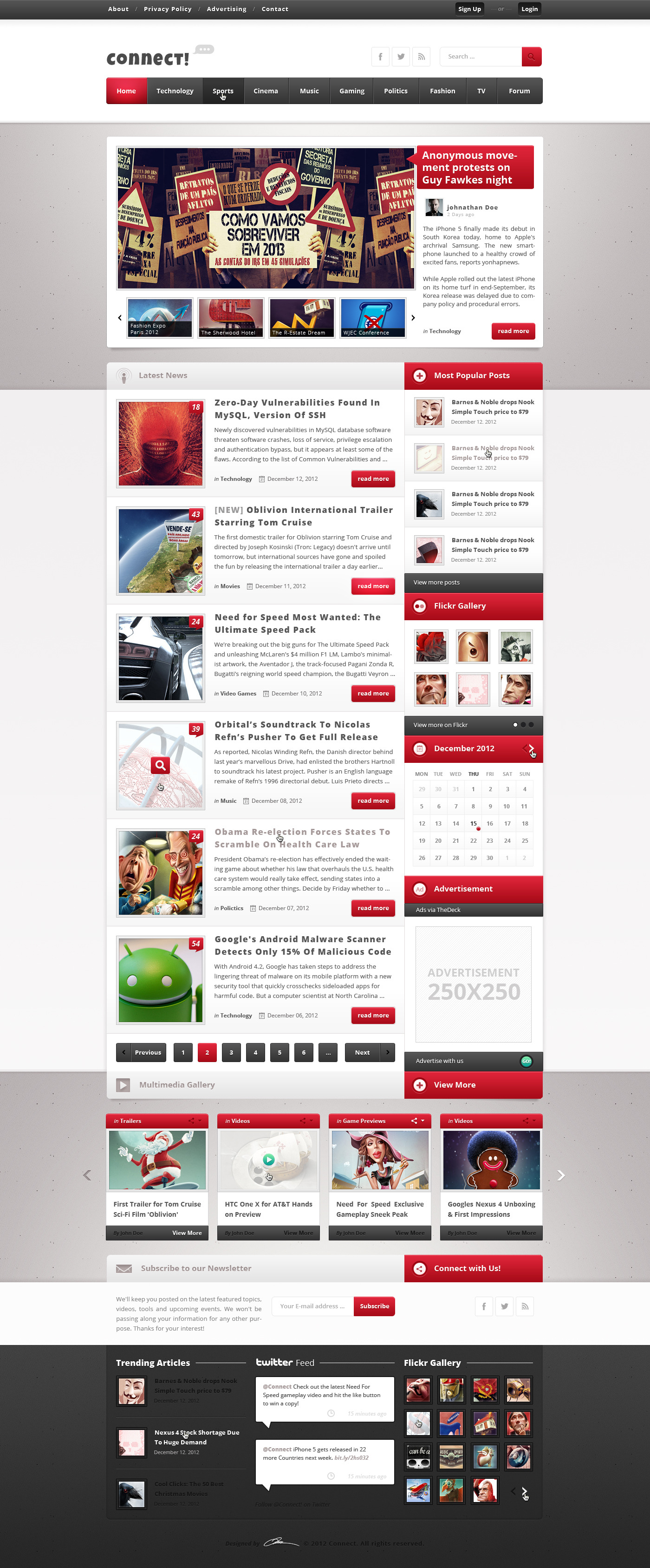 Connect - Premium PSD Magazine Template by Ttpmc | ThemeForest