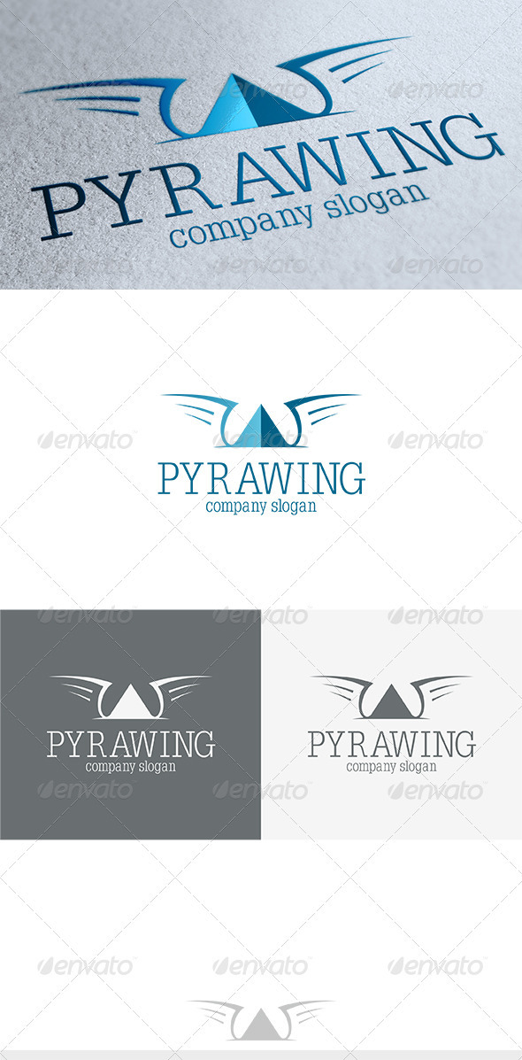 Pyrawing Logo - Vector Abstract