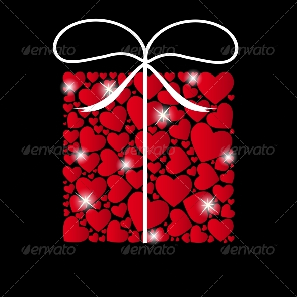 Valentines Day Heart Background - Vector - Valentines Seasons/Holidays