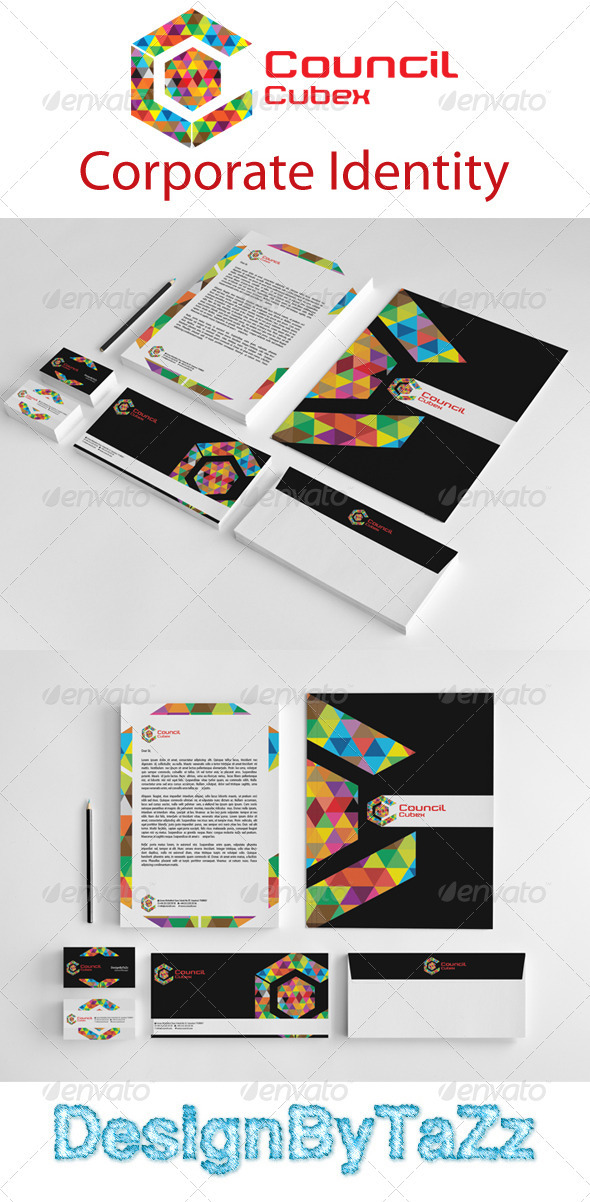 Council Love Corporate Identity Package - Stationery Print Templates
