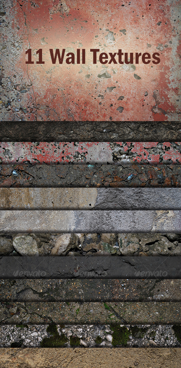 11 Wall Textures - Concrete Textures