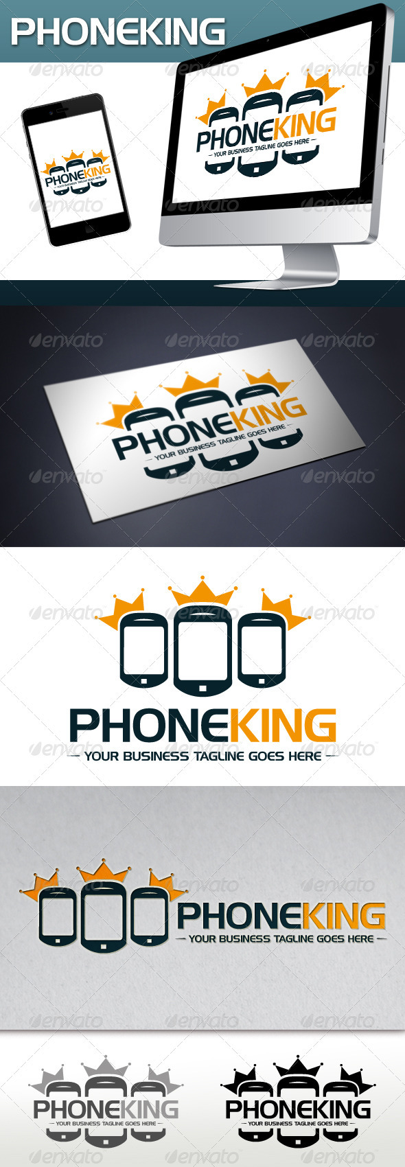 Phone King Logo Template - Objects Logo Templates
