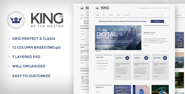 KING PSD Template - Creative PSD Templates