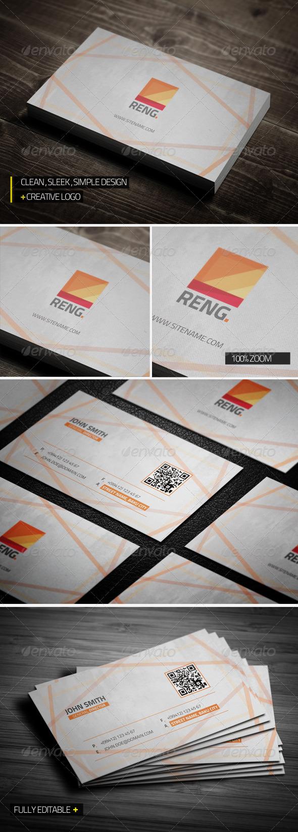 Reng Creative Business Card - Creative Business Cards