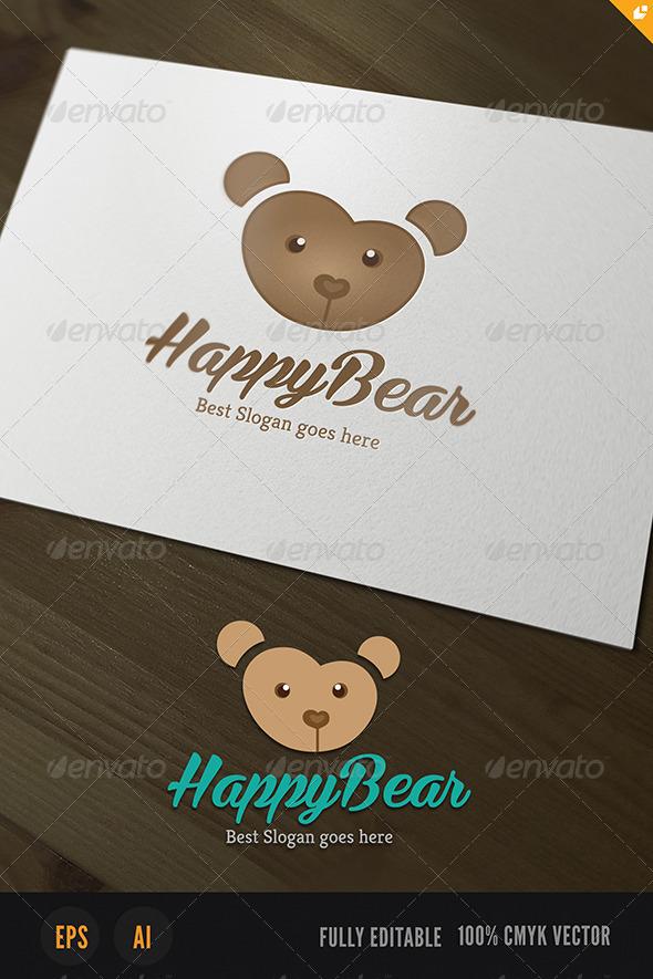 Happy Bear Logo - Animals Logo Templates