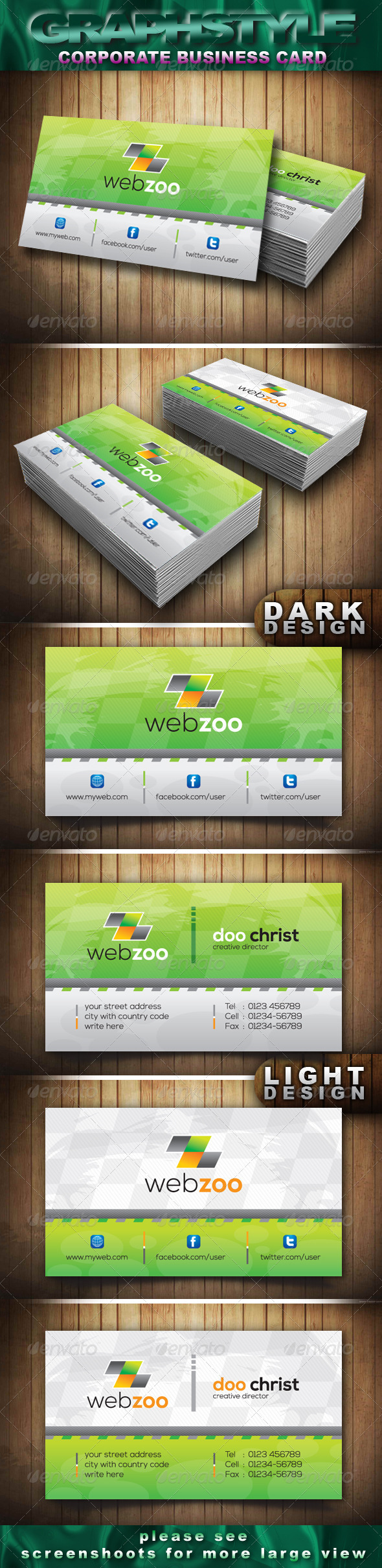 Webzoo Corporate Business Card - Corporate Business Cards