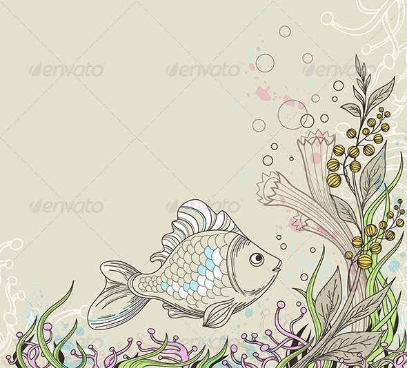 Marine Background - Animals Characters
