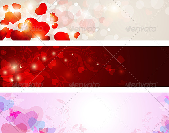 Valentine Banners - Valentines Seasons/Holidays