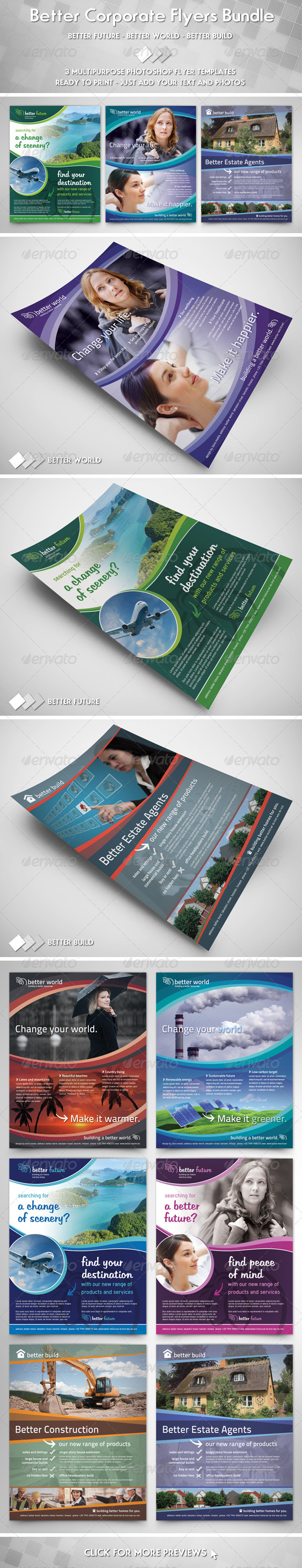 Better Corporate Flyers Bundle - Corporate Flyers