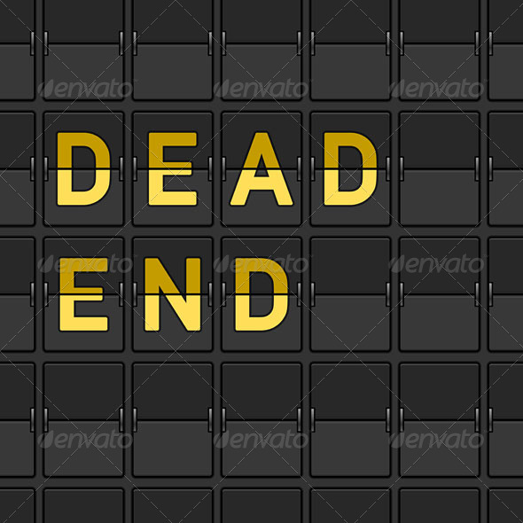 Dead End Flip Board - Travel Conceptual