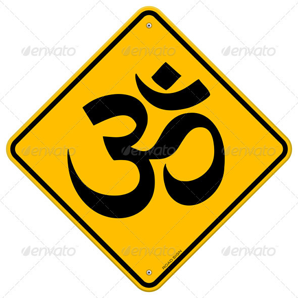 Om Yellow Sign - Health/Medicine Conceptual
