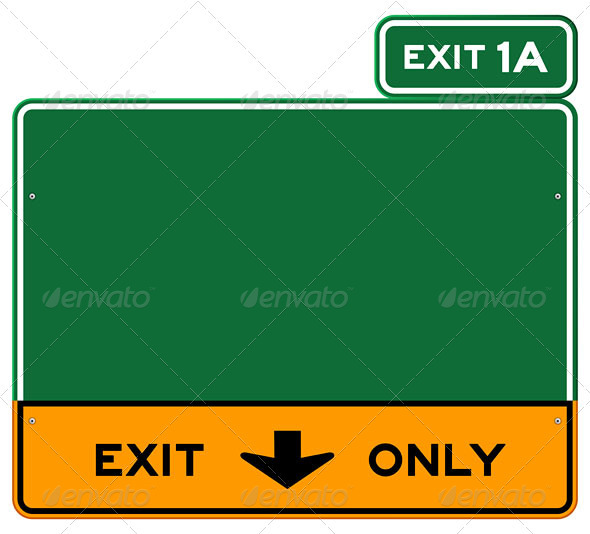 Exit Only Sign - Industries Business